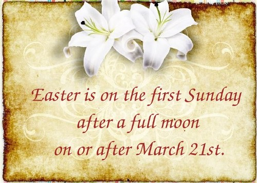 What determines the date of easter in Australia
