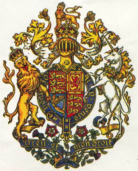 Coat Of Arms Unicorn And Lion